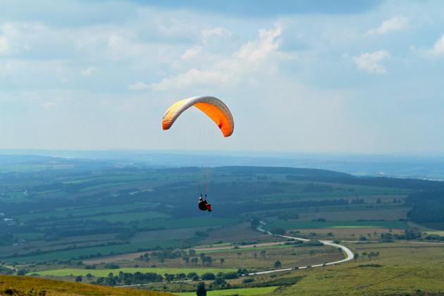 Paragliding Brittany